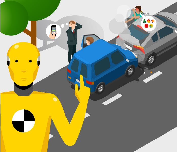 ilustracion y animacion para video tutorial de seguridad vial